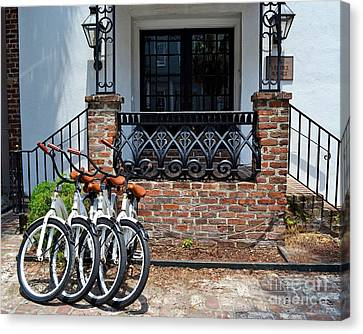 Bicycles In Charleston Canvas Print
