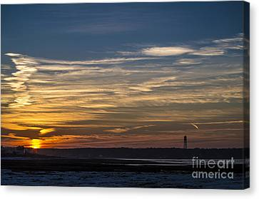 Biddeford Pool Maine Sunset Canvas Print
