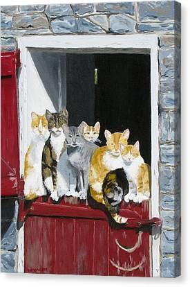 Biddles Barn Kitties Canvas Print