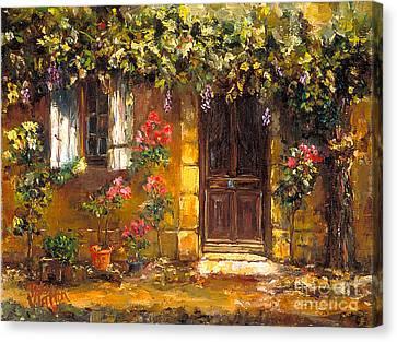 Bienvenue A' Provence Canvas Print by Patsy Walton