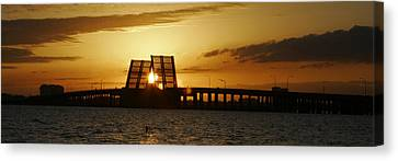 Bienville Blvd Bridge Sunset Canvas Print by Marcus Mapp Sr