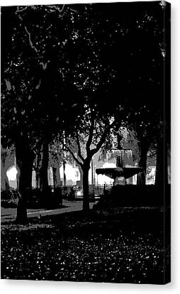 Bienville Square Fountain Posterized Canvas Print by Marian Bell