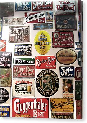Bier Wall Canvas Print