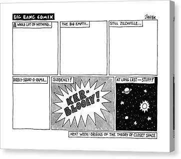 Etc Canvas Print - Big Bang Comix by Jack Ziegler