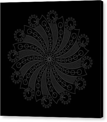 Big Bang Inverse Canvas Print by DB Artist