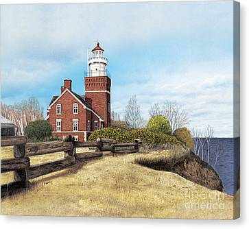 Big Bay Point Lighthouse Canvas Print by Darren Kopecky
