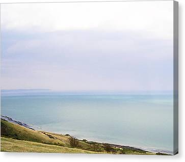 Big Beachy Head Sky Canvas Print by Connie Handscomb