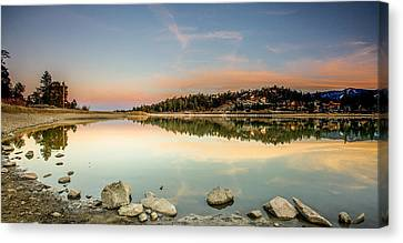 Canvas Print featuring the photograph Big Bear Lake by Robert  Aycock