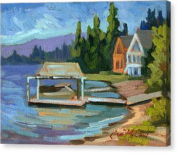 Big Bear Lake South Shore 2 Canvas Print by Diane McClary