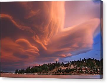 Big Bear Lake Storm Canvas Print by Sharon Beth