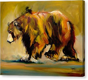 Big Bear Walking Canvas Print