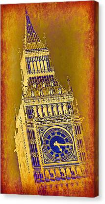 Historic Architecture Canvas Print - Big Ben 3 by Stephen Stookey