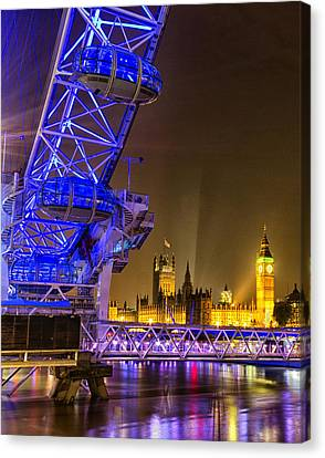 Big Ben And The London Eye Canvas Print