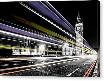 Big Ben And Westminster Canvas Print by Ian Hufton