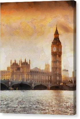 Big Ben At Dusk Canvas Print by Pixel Chimp