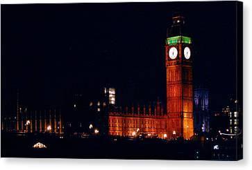 Night Canvas Print - Big Ben At Night by Gina Dsgn