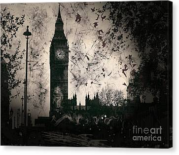Big Ben Black And White Canvas Print