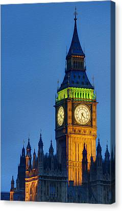 Big Ben London Digital Painting  Canvas Print by Matthew Gibson