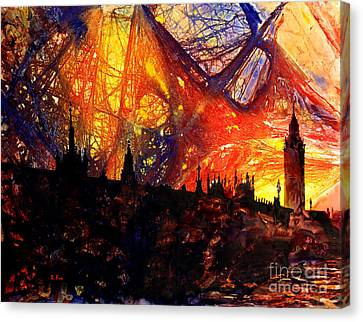 Big Ben Shocker Canvas Print by Ryan Fox