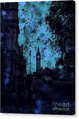 Big Ben Street Canvas Print