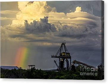 Shower Canvas Print - Big Bend Rainbow by Marvin Spates