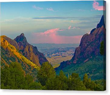 Big Bend Texas From The Chisos Mountain Lodge Canvas Print by Gary Grayson