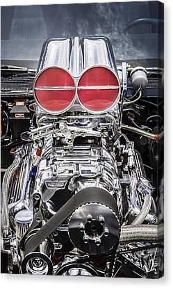 Big Big Block V8 Motor Canvas Print by Rich Franco