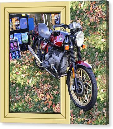 Big Bike Canvas Print by Larry Bishop