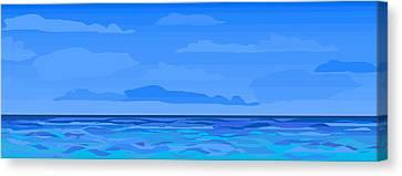 Big Blue 2 Canvas Print by Alice Butera