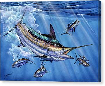 Big Blue And Tuna Canvas Print