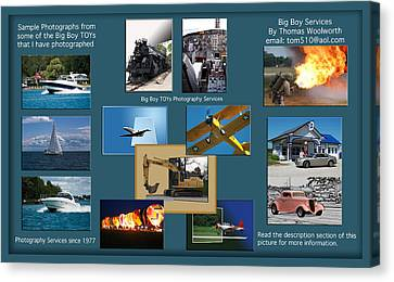 Big Boy Toys Photography Services Canvas Print by Thomas Woolworth