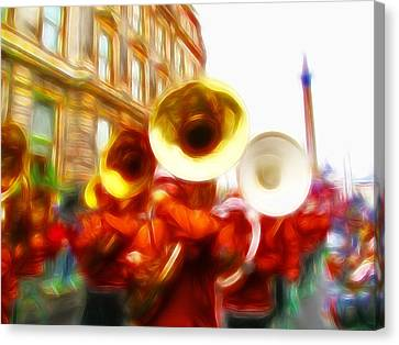 Big Brass Band Canvas Print by Sharon Lisa Clarke