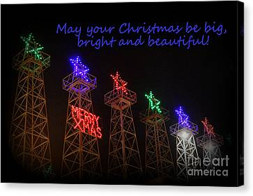 Big Bright Christmas Greeting  Canvas Print by Kathy  White