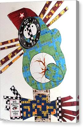 Big Brother Is Washing You Canvas Print by Charlotte Driver
