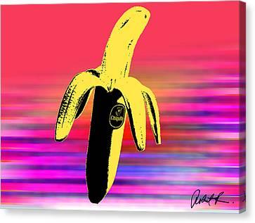 Big Chiquita Bannana On Canvas By Robert R Signed Canvas Print