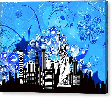 Big City Blues 4 Liberty Canvas Print by Stanley Mathis