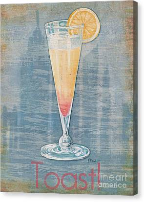 Big City Cocktails Champagne Canvas Print by Paul Brent