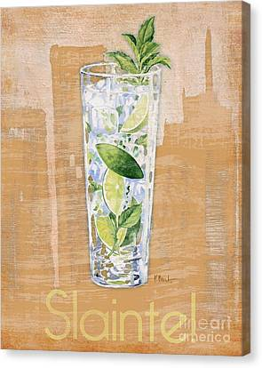 Lime Canvas Print - Big City Cocktails Mojito by Paul Brent