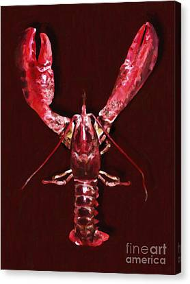 Big Claw Lobster - Painterly Canvas Print by Wingsdomain Art and Photography