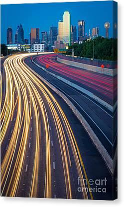 Big D Freeway Canvas Print by Inge Johnsson