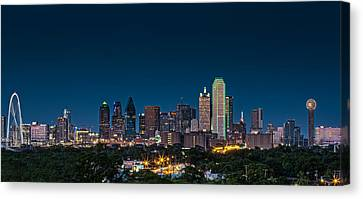 Dallas Skyline Canvas Print - Big D by Meredith Butterfield