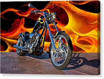 Big Dog Meets Hell Boy Canvas Print by Dave Koontz
