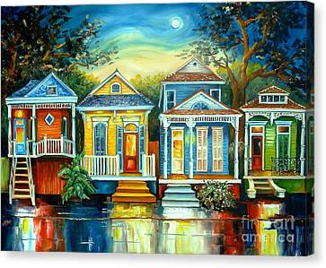 Oaks Canvas Print - Big Easy Moon by Diane Millsap