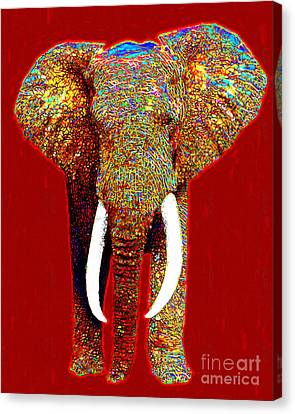 Big Elephant 20130201p0 Canvas Print by Wingsdomain Art and Photography