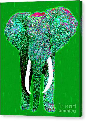 Big Elephant 20130201p128 Canvas Print by Wingsdomain Art and Photography