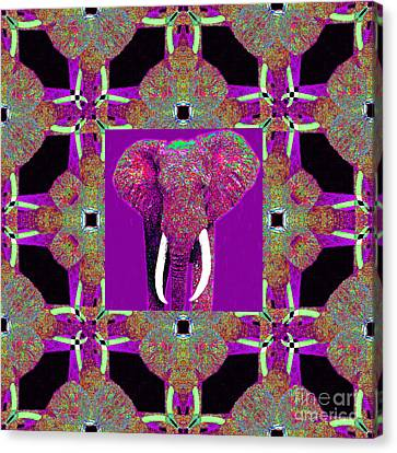 Big Elephant Abstract Window 20130201m68 Canvas Print by Wingsdomain Art and Photography