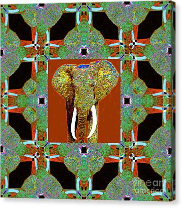 Big Elephant Abstract Window 20130201p20 Canvas Print by Wingsdomain Art and Photography