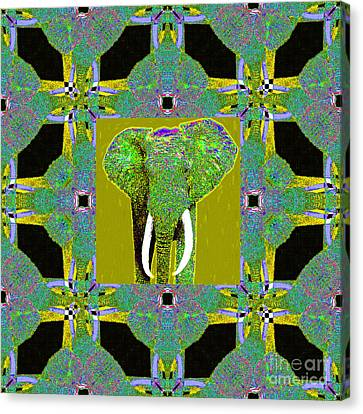 Big Elephant Abstract Window 20130201p60 Canvas Print by Wingsdomain Art and Photography