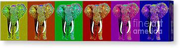 Big Elephant Six 20130201 Canvas Print by Wingsdomain Art and Photography