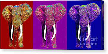 Big Elephant Three 20130201v2 Canvas Print by Wingsdomain Art and Photography